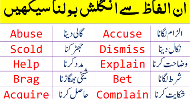2000 Basic English Words For Beginners With Urdu And Hindi Meanings