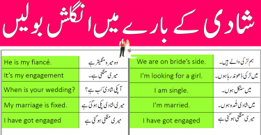 Daily Use Sentence for Marriage with Urdu and Hindi Translation
