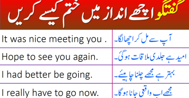 English Phrases for Ending a Conversation Politely with Urdu Translation