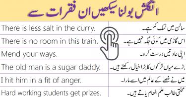 130 Daily Use English Sentences in Urdu