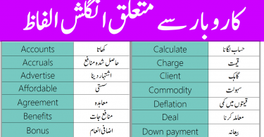 Business English Vocabulary with Urdu Meanings