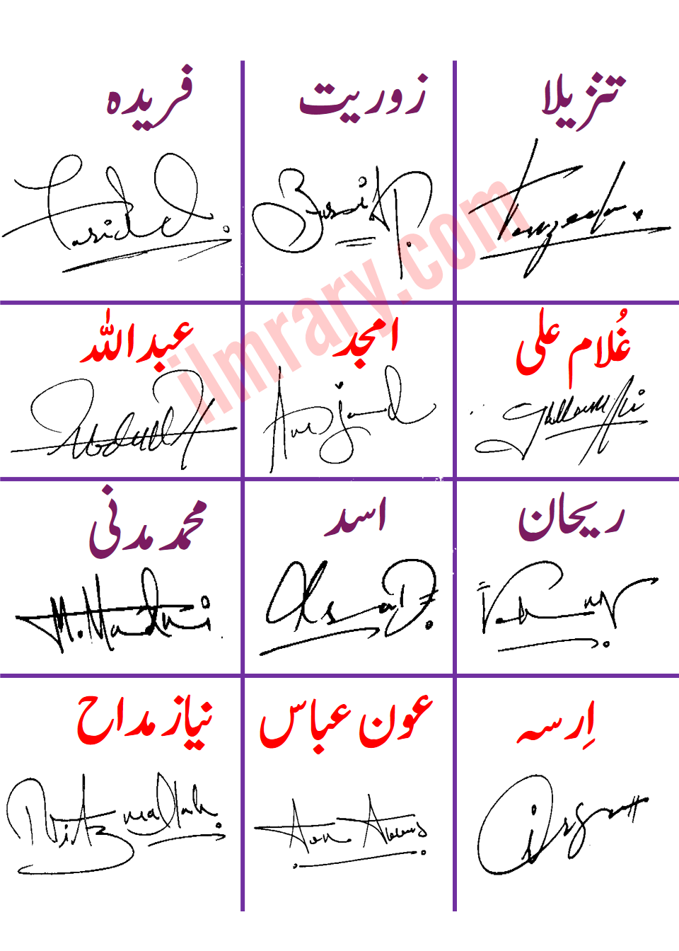 Handwritten Signatures Designs for Your Names