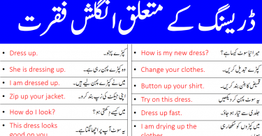 Clothes Sentences in English with Urdu Translation